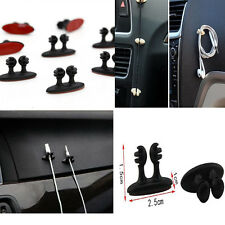 8x Black Cable Tidy Drop Car Clip Wire Organiser Vehicle Cord Charger Holder Hot