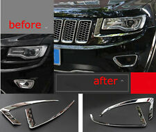 Chrome Car Front Headlight Eyebrow Trims for Jeep Grand Cherokee 2014-2016