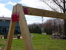 A-Frame Easy Swingset (Jungle Gym) Heavy Duty Bracket Set of 2 with Hardware