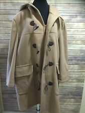 Vintage Mens London Fog Winning Edge Duffle Coat Wool Large Brown
