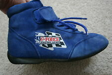G-Force Racing Gear Driving Shoes Boots SFI Found Inc 3.3/5 Size 7 Blue Suede