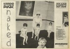 4/6/83PN42 ADVERT: KISSING THE PINK ALBUM & CASSETTE NAKED 7X11