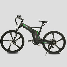 "26"" New Matt Black Electric Bicycle Mountain 350W 36V lithium battery city EBike"