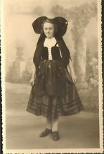 PHOTO JEUNE FILLE EN COSTUME ALSACE