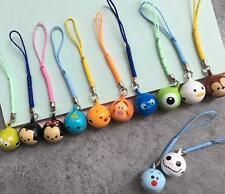10PCS tsum mickey minnie mix Cell Phone Charm Strap JINGLE BELLS Dangle Figures