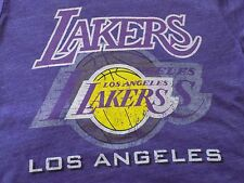 VINTAGE Majestic Threads MEN'S MADE IN USA  LOS ANGELES LAKERS RARE T-SHIRT SZ L