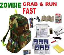 Zombie Grab&Run 3 Day Disaster Emergency Survival Kit Bug Out Bag Camping Hiking