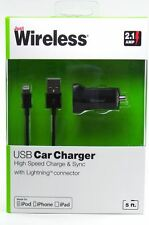 Apple Certified Lightning USB Cable + Car USB  2.1 Amp iPhone 5/5s/5c/6/6s/6plus