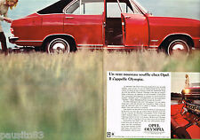 PUBLICITE ADVERTISING 055  1967  OPEL  OLYMPIA  ( 2 pages)