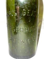 Alte Bierflasche Hans Geiser Bergbrauerei Leimen Bier Flasche Brauerei bottle