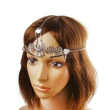 Vintage Boho Women Hippie Gypsy Headband HeadPiece Head Chain Jewelry Silver