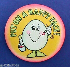Buy3/Get1FREE~Hallmark PINBACK Easter EGG Painter 'PUT ON HAPPY FACE' PIN Button