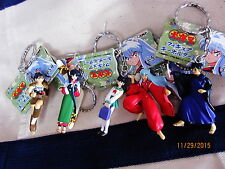 5 pc SET Banpresto Inuyasha Miroku Sango Key Holder Kagome Japan anime Wolf Boy