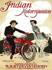TRANSPORT MOTORCYCLE NETHERLANDS ADVERTISING POSTER RETRO PICTURE 1542PYLV