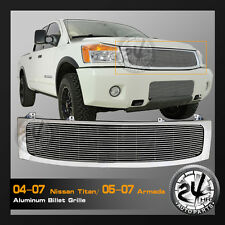 Replacement Aluminum Billet Grille W/Shell for 04-07 Nissan Titan/05-07 Armada