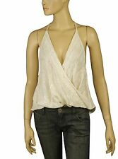 107866 New Ecote Urban Outfitters Embellished High & Low T Back Blouse Top S US