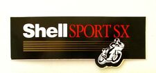 Autocollant SHELL SPORT SX Huile  - Sticker collector Année 80/90