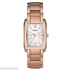 Fossil Adele Women's Silver Dial Rose Gold Stainless Steel Bracelet Watch ES2731