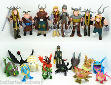 Lot 21 pcs How to Train Your Dragon Action figures Hiccup Astrid Toothless Toys
