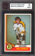 1974 75 OPC O PEE CHEE  #200 PHIL ESPOSITO KSA 9 MINT BOSTON BRUINS CARD