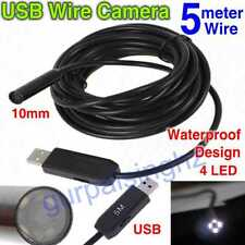 10mm Mini USB Waterproof Endoscope Borescope Snake Inspection Camera 5M Wire