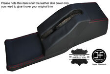 RED STICH CONSOLE ELECTRIC SEATS HANDBRAKE HOUSING LEATHER COVER FITS BMW E28