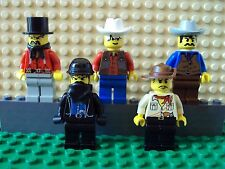 Lego Minifig ~ Mixed Lot Of 5 Wild West Western Cowboys Outlaws/Bandits #ctr5