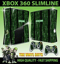 XBOX 360 SLIM COD MATRIX CODE SYSTEM FAILURE  STICKER SKIN COVER & 2 PAD SKINS