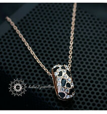Simulated Diamond/Crystal Leopard Print Pendant&Necklace/RGN206