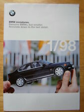 BMW Miniatures orig 1998 UK Market brochure -Genuine BMW models from the Factory