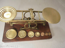 Antique Mordan Brass Scales & Weights    ref 918