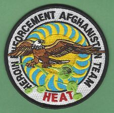 DEA DRUG ENFORCEMENT ADM AFGHANISTAN HEROIN ENFORCEMENT TEAM HEAT POLICE PATCH