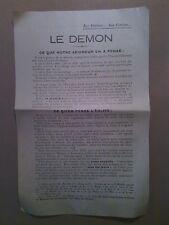 LE DEMON, ce que Notre Seigneur en a pensé et ce qu'en pense l'Eglise, 1928