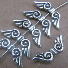 50x Retro Tibetan Silver Small Angel wings Spacer Beads Accessories DIY 479AF