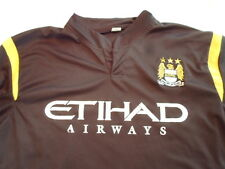 MCFC Manchester City Jersey M Medium Ethiad Airways