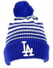 MLB Los Angeles LA DODGERS 47 BRAND Pom Knit Cuff Beanie Winter Skull Cap Hat OS