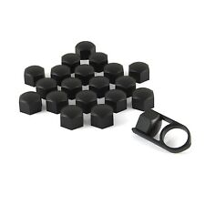 Set 20 19mm Black Car Caps Bolts Covers Wheel Nuts For Porsche