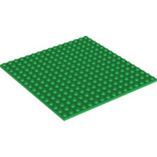 LEGO - Square Base Plate - 16 X 16 (5 inch) - Green