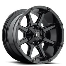 "(4rims) Off Road 20x10"" Fuel Wheels D575 Coupler Black Rims"