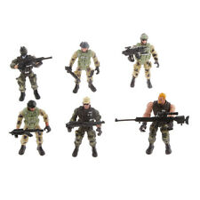 Model Action Figure Toys 6 Male Police Soldiers with Guns Kids Xmas Gifts