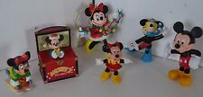 Vintage Mickey Minnie Mouse Disney Figures Lot of 6 Lot 3 Ornaments