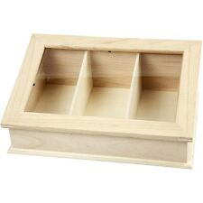 Mini Wooden Greenhouse Box - Plexi Glass - Decorate Craft - Garden Home GIFT