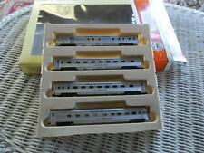 CON COR BY RIVAROSS N SCALE EMPIRE STATE EXPRESS FOUR CAR PASSENGER SET NOS