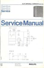 Philips Service Manual für MFB-Box 22 RH 544  .