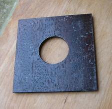 ebony style Veneered finish Metal flat  lensboard for copal  0  98 x 96 marked