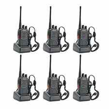 Set of 6 Two-Way Radio Walkie Talkie Handheld Communication UHF Antenna Earpiece
