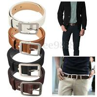 Luxury Leather Pin Prong Belt Casual Men's Waistband Waist Strap Trouser Belts