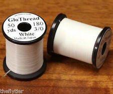 UNI 3/0 GLO THREAD & GLO YARN - 2 spool set  - glow in dark -- Fly Tying