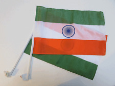 INDIA / INDIAN CAR WINDOW FLAG - 2 PACK NEW
