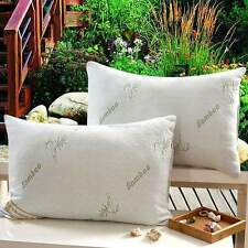 TWO QUEEN Velvet Feather Bamboo Pillow Hotel Hypoallergenic Polyester Shredded